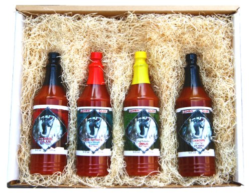Zombie Cajun Hot Sauce Gourmet Food Gifts Basket Set – Not Just a Novelty Gift for a Zombie Apocalypse Survival Kit – 4 of the Best Bottles of Louisiana Spiced Cayenne, Jalapeno, and Habanero Pepper Sauces