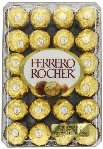 Ferrero Rocher Fine Hazelnut Chocolates, 48 Count