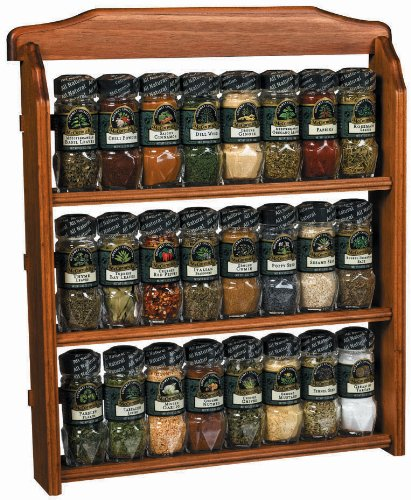 McCormick Gourmet Spice Rack, Three Tier Wood, 24-Count