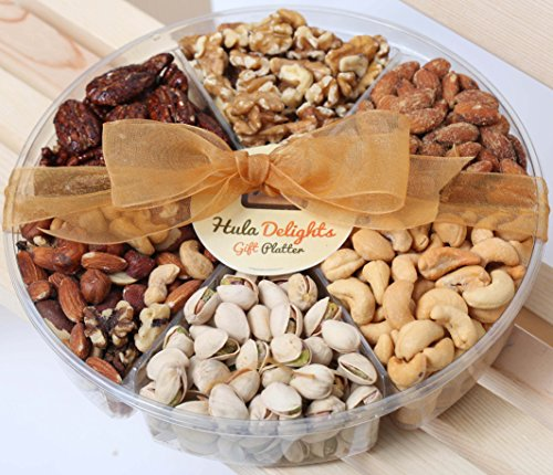 Deluxe Roasted Nut Gift Tray 6-Section – Hula Delights