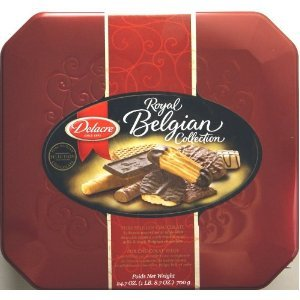 Delacre Royal Belgian Collection Tin Box Exquisite European Assorted Biscuits Net Weight 24.7 OZ (700 g)