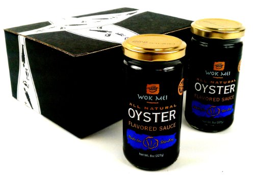Wok Mei Gluten Free Oyster Sauce, 8 oz Jars in a Gift Box (Pack of 2)