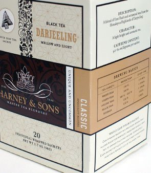 Harney and Sons Darjeeling, Black 20 Sachets per Box