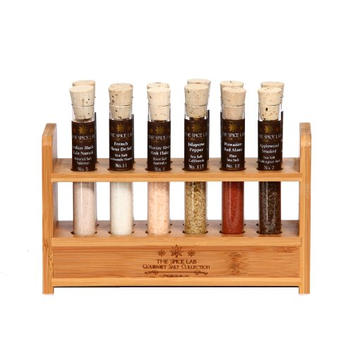 "Special Edition Gourmet Salt Sampler Collection No. 2 – 12 Salts – Taste the world of salts ""The Lab Kit # 2"""