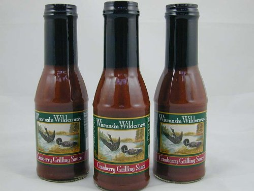 Wisconsin Wilderness Cranberry Grilling Sauce – 3 Jar Set