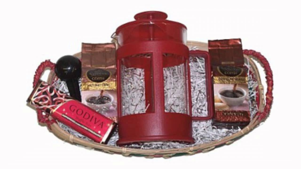 Coffee Lovers Mother's Day Godiva Coffee French Press Gourmet Gift Basket