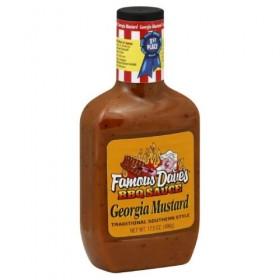 Famous Dave's BBQ Sauce Georgia Mustard, 17.5-ounce