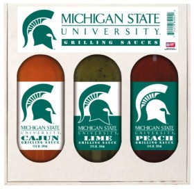 Michigan State Spartans NCAA Grilling Gift Set (12oz Cajun, 12oz Lime, 12oz Peach)