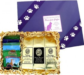 All Natural Gourmet Cat Treats in Pet Gift Presentation for Cat Lovers Who Also Love Great Coffee, Christmas Gifts for Cats and Cat Lovers