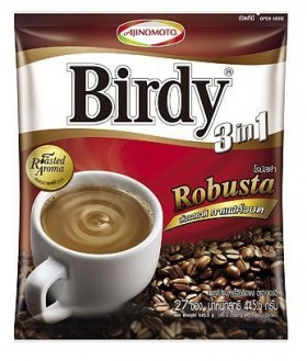 Ajinomoto Birdy Robusta 3 in 1 Instant Coffee Mix Rosted Aroma Blend 30 Sticks Product of Thailand