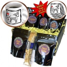 cgb_12089_1 Janna Salak Designs Dogs – I Love My Italian Greyhound Grey – Coffee Gift Baskets – Coffee Gift Basket