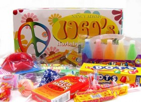 1960's Retro Candy Gift Box-Decade Box Gift Basket – Classic 60's Candy, 10oz