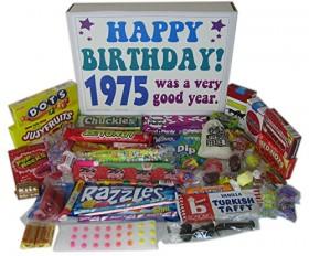1975 40th Birthday Gift Basket Box Retro Nostalgic Candy From Childhood