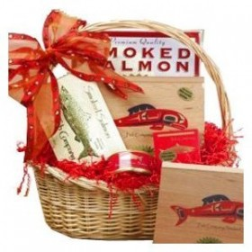 Art of Appreciation Gift Baskets Red Smoked Salmon Seafood Lovers Basket