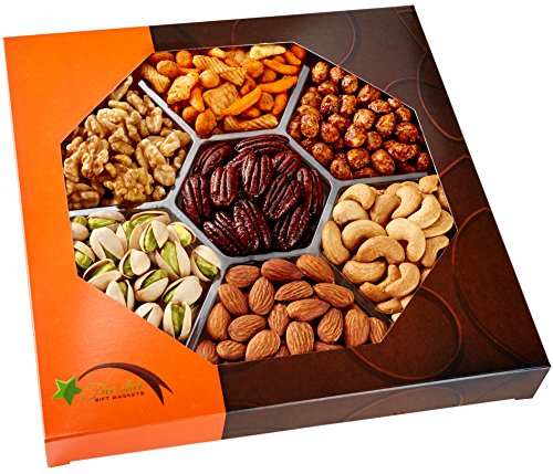 Gourmet Food Nuts Gift Basket 7 Different Delicious Love It Or Your Money Back Kosher Vegan