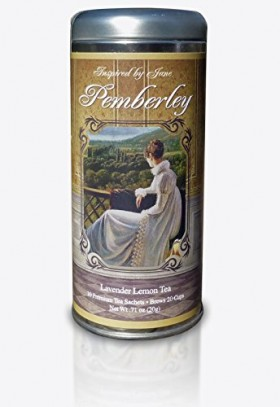 Pemberley – Lavender and Lemongrass Green Tea – Premium Tea Sachets – Jane Austen Inspired Tea Collection – Gourmet Leaf Tea Blend