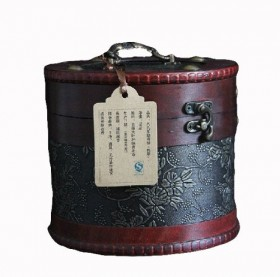 Menghai Old Ancient Tree Ripe Pu-erh Pu'er Tea 500g in Bulk with Leather Bucket