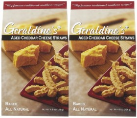 Geraldine's Cheese Straws, Traditional, 4.5 oz, 2 pk