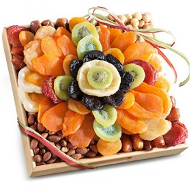 Golden State Fruit Tropical Flora Dried Fruit Tray with Nuts Gift