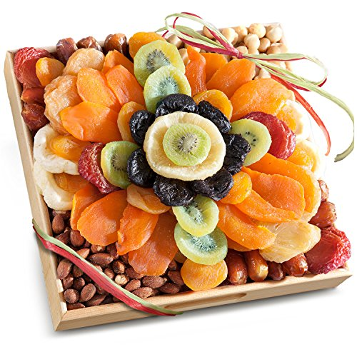 Golden State Fruit Tropical Flora Dried Fruit Tray with Nuts