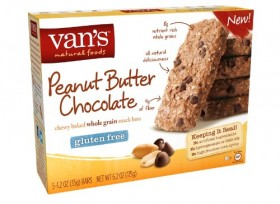 Van's Peanut Butter Chocolate Snack Bars, 5 Count Box, 1.2 oz bars