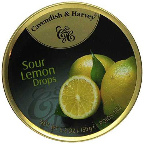 Cavendish & Harvey Sour Lemon Drops, 5.3 oz Tins in a BlackTie Box (Pack of 3)