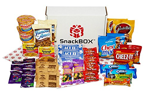 Care Package for College Students, Military, Birthday, or Back to School (40 Count) From Snack Box