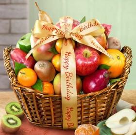 Happy Birthday Fruit Basket
