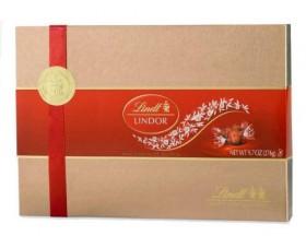 Lindt Lindor Milk Chocolate Truffles Gift Box, 9.7 oz