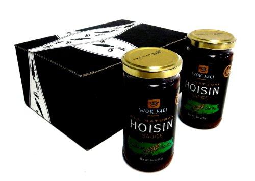 Wok Mei Gluten Free Hoisin Sauce, 8 oz Jars in a Gift Box (Pack of 2)