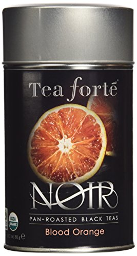 Tea Forte Noir BLOOD ORANGE Organic Loose Leaf Black Tea, 3.5 Ounce Tea Tin