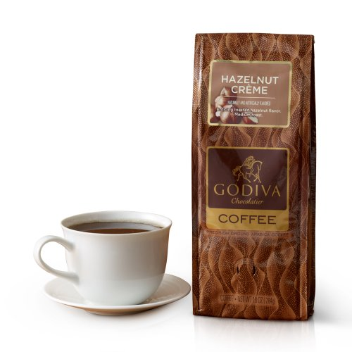 Godiva Chocolatier Hazelnut Creme Coffee, 10 Ounce
