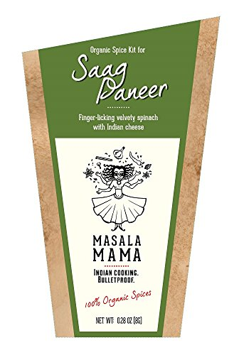 Indian Spice Kit for Saag Paneer (Spinach and Indian Cheese) – Organic Curry Spice Blends by Masala Mama
