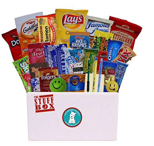 Student Survival Kit – College Care Package Full of Great Snacks and Handy Study Tools