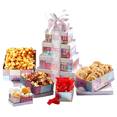 Broadway Basketeers Thinking of You Snack Gift Tower