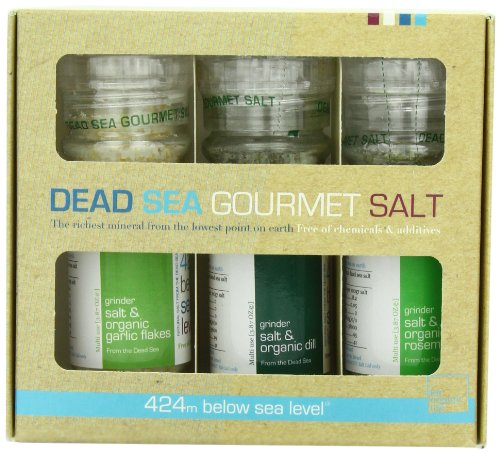 Salt 424 Three Grinder Pack 100% Organic Salts, Rosemary, Dill and Garlic, 25.11 Ounce