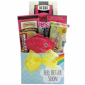 GreatArrivals Gift Baskets Get Well Gift Basket, Feel Better Soon, 2 Pound