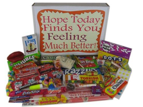 Get Well Soon Retro Nostalgic Candy Gift Basket Box