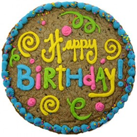 Triolo's Bakery 'Happy Birthday' Chocolate Chip Cookie Cake 12″