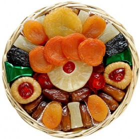 Broadway Basketeers Heart Healthy Floral Dried Fruit (Small) Gift Tray, 16 Ounce Box