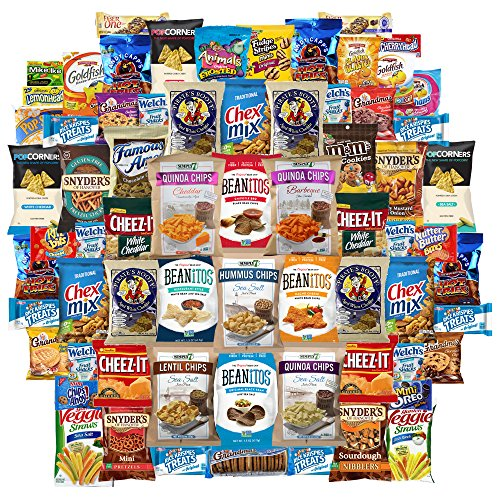 Ultimate Snacks Chips Cookies Candy Variety Assortment Includes Doritos Cheetos Lays Cheez It Ruffles Fritos Goldfish Keebler Oreos Chips Ahoy Includes Recipe By Custom Varietea Bulk Sampler 65 Packs