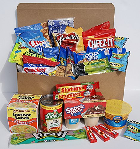 Munchy Junkie Care Package Back To School Gift (30 Count) For College Students Or Any Loved One!