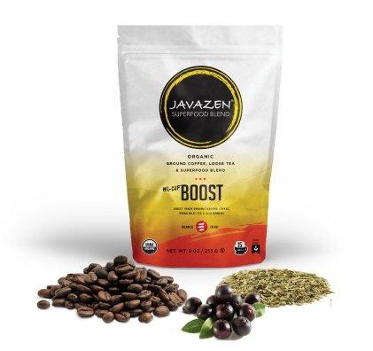 Javazen Boost Coffee (Yerba Mate + Dark Roast Coffee + Acai Berry) Superfood Blend