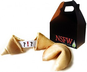 NSFW Fortune Cookies: Inappropriate Edition (Explicit Adult Content) Gift Box (50 Count)