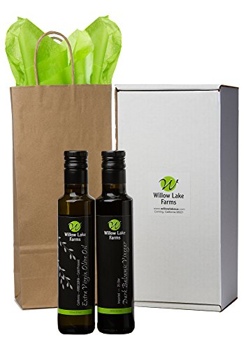 Willow Lake Farms Premium California Olive Oil & 25 Star Balsamic Vinegar Gift Set