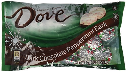 Dove Dark Chocolate Peppermint Bark Promises, 7.94 Ounce Bag (Pack of 4)