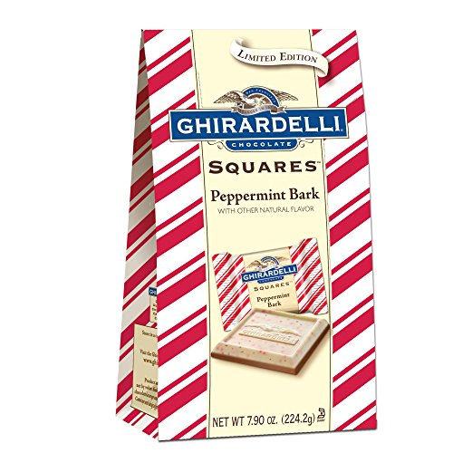 Ghirardelli Limited Edition Peppermint Bark Squares Bag, Milk Chocolate, 7.9 Ounce