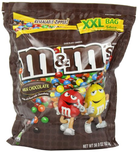 M&M Candy, Milk Chocolate, 56 Ounce
