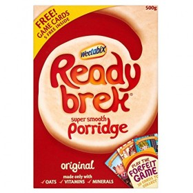 Ready Brek Instant Porridge milled oats Mix. Just add hot milk and serve 450g / 15.9oz British breakfast cereal box