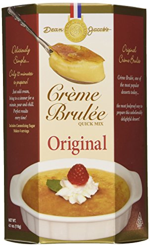 Dean Jacob's Crème Brulée Quick Mix, 4.1 oz Boxes in a Gift Box (Pack of 3)